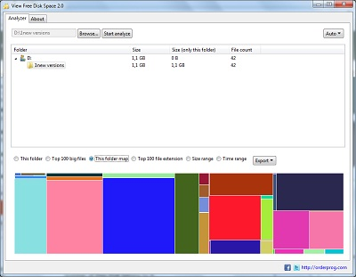 Click to view View Free Disk Space 2.1 screenshot